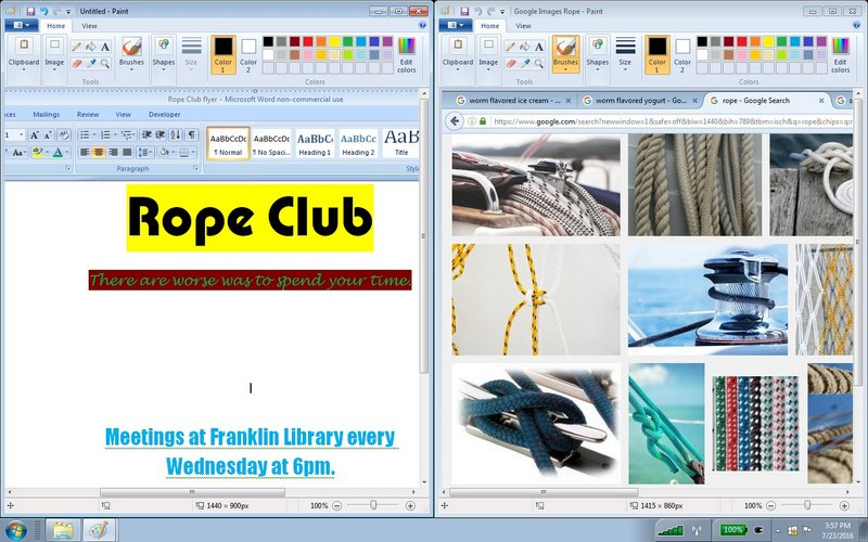 rope3 flyer and google images dual windows