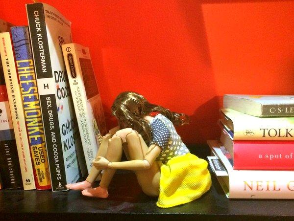 Plath on shelf