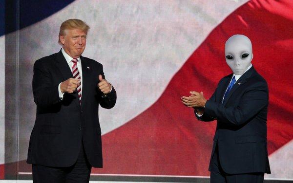 Trump and Aliens