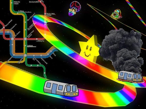 Rainbow Road Metro Orange Stripe